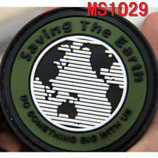 1pc Patch Saving the Earth Design Rubber Military Patches Badge Magic Stick