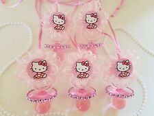 12 Hello Kitty Pink Pacifier Necklaces Baby Shower Game Favors Prizes Girl Decor