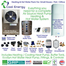 Cool Energy - Complete Air Source Heat Pump Heating & Hot Water System Pack 1.