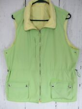Women's Ralph Lauren  Reversable Vest Size Large Lime Green And Pale Yellow A8