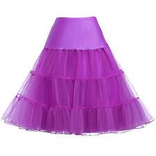 Tea Length Swing Vintage Prom Slips Crinoline Petticoat Underskirt Hoops Dresses