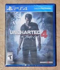 NEW PS4 UNCHARTED 4 A Thief's End Playstation 4 SEALED !