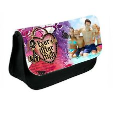 Personalised Photo Ever After High Black Canvas Pencil Case Or Make-Up Bag