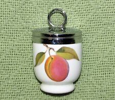 ROYAL WORCESTER EGG CODDLER Porcelain PLUM Red Berries Standard Size EVESHAM