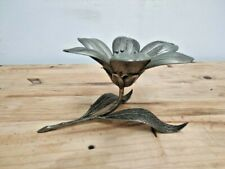"""Vintage tin flower decoration piece with petals rare from 70's 10"""""""