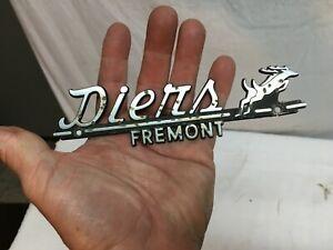 Diers--Fremont--Metal  Dealer Emblem Car plate