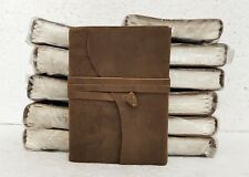 Leather Journal Diary Notebook Handmade Blank Travel Notepad Lot of 12