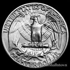 1964 D  Washington Silver Quarter ~ Choice Raw Coin from Bank Roll