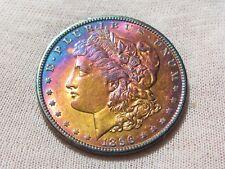 1896  Rainbow Toned Silver Morgan Dollar       #120496MD