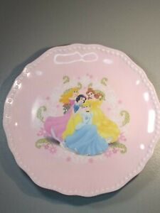 "Vintage Designs Disney Princess Plastic Plate 8"" Cinderella, Snow White... Good"