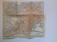 Italy, Napoli, 1909 Antique Map, Wagner & Debes, Atlas