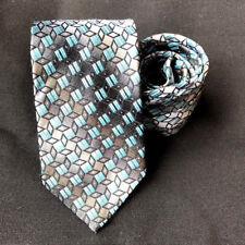 Pronto-Uomo Couture Gradient Geometric Silk Dress Necktie Italy Classic Style