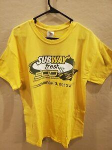Phoenix International Raceway Subway Fresh Fit 2013 Shirt Large Vintage Gildan