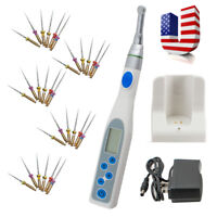 Dental Wireless Cordless Endo Motor Treatment 16:1 Contra Angle Handpiece 5Files