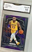 Gem Mint 10: 2019 Lebron James, Panini Prizm Card #129, Loa Angeles Lakers