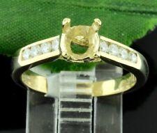 0.30 ct 14k Yellow Gold Ladies Semi Mount Diamond Ring setting  made in USA