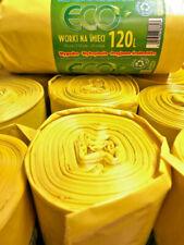 Hinrichs 120 L Müllsäcke Gelbe Plastik Müll Müllbeutel Abfallsäcke Abfallbeute
