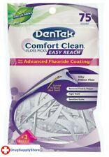BL Dentek Floss Picks Comfort Clean Fresh Mint 75 Count - Two PACK