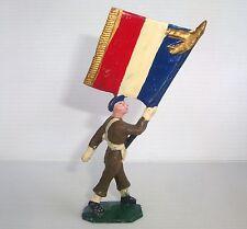 Figurine cyrnos époq. starlux clairet jim : soldat porte drapeau n°6