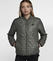 Nike Womens Sportswear Quilted Primaloft Jacket River Rock Large 854747 018
