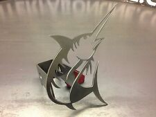 "Marlin Hitch Cover - 1/8"" Steel - Tow Towing Reese Custom Truck Fishing Fish"