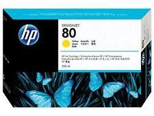 Original & Boxed 2018 HP80/C4848A 350ML Amarillo Cartucho De Tinta-rápidamente publicado