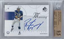 2002 Peyton Manning SP Authentic Sign of the Times Auto Card- BGS 9.5 w/10 Auto