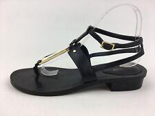 Pour La Victoire ACADIA Gold Accent Ankle Strap Sandals Size 8 M, Black 2724