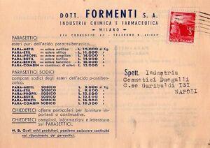 MILANO - INTERESSANTE CARTOLINA POSTALE COMMERCIALE - 1947