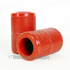 """1 PCS Autoclavable Textured Tattoo Grip Cover Holder 1.25"""" - Red"""
