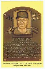 Baseball Hall of Fame & Museum Postcard Bob Gibson St Louis Cardinals HOF Plaque