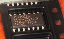100 x  LM239D quad comparator SO14 case wide temperature range