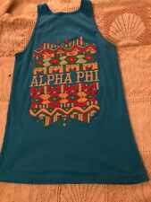 Alpha Phi A Fraternity Tank-Top blue Small neo
