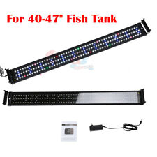 Full Spectrum Led Aquarium Light Fish Tank Lamp Extendable Brackets 40-48inch