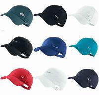Nike Mens Swoosh Metal Sports Cap Baseball Golf Adjustbale Hat Black White Navy