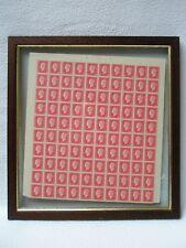 Bloc de 100 timbres 1,50 frs DULAC rouge encadrés dans un cadre double face
