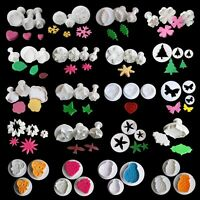 42 Types Cookie Fondant Cake Sugaricraft Choclate Decoratng Plunger Cutteir Mold