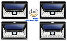 4-Pack RELIGHTABLE Solar Powered 46 LEDs 3D Motion Sensor Light 3-Mode MS46-4