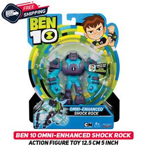 Ben 10 OMNI-ENHANCED SHOCK ROCK Action Figure Toy 12.5 cm 5 Inch Original Rare