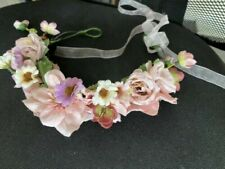 Quality Flower Headband Hair Crown Floral Pink Garland New