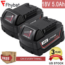 2X18V  5.0Ah 48-11-1828 Batteries replace For Milwaukee M18 48-11-1850 1840 1852