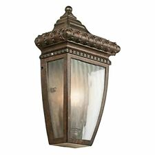 Kichler Venetian Rain Half Wall Exterior Lantern Brushed Bronze Finish IP44 Rate