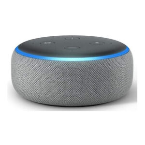 Amazon Echo Dot (3rd Gen) Smart Speaker with Alexa (Heather Gray)