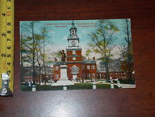 POSTCARD VINTAGE INDEPENDENCE HALL COMMODORE BARRY MONUMENT PA #2