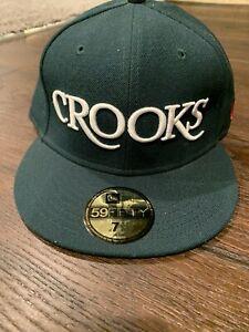 New Era Crooks & Castles CROOKS Green Fitted Cap 7 3/8 Vintage