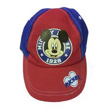 TOPOLINO MICKEY SOURIS chapeau avec visière coton bleu et rouge réglable