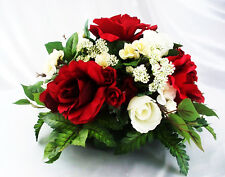 Red Silk Flower Table CenterpieceRose Arrangement Floral Wedding Dining Round
