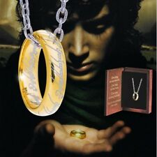 Lord of the Rings - Anneau unique argent massif plaqué or - Noble Collection