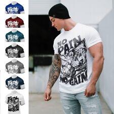 7b5ecfa5 2018 Men Gym No Pain No Gain Shirts Bodybuilding Training Fitness Clothes  Tee