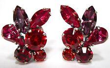SoHo® Ohrclips geschliffene Kristalle navette lila rot siam amethyst siam